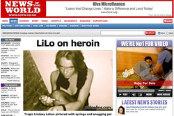 Lindsay Lohan, News of the World, Heroin