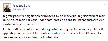 Anders Borg Facebook