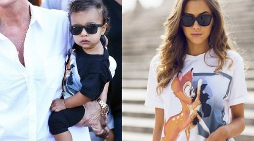 Kim Kardashian, Modeblogg,  North West, Kanye West, Outfits