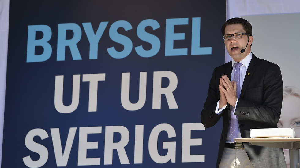 Jimmie Åkesson under EU-valskampanjen 2014.