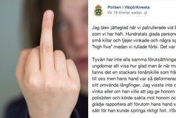 Polis, Fuck You, Facebook, Polisen, Finger, Text