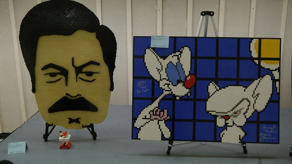 """Ron Swanson och """"Pinky and the brain""""."""