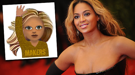 Beyonce, Oprah Winfrey, Taylor Swift, Emoji, Femoji, Iphone,  Lena Dunham,  Makers