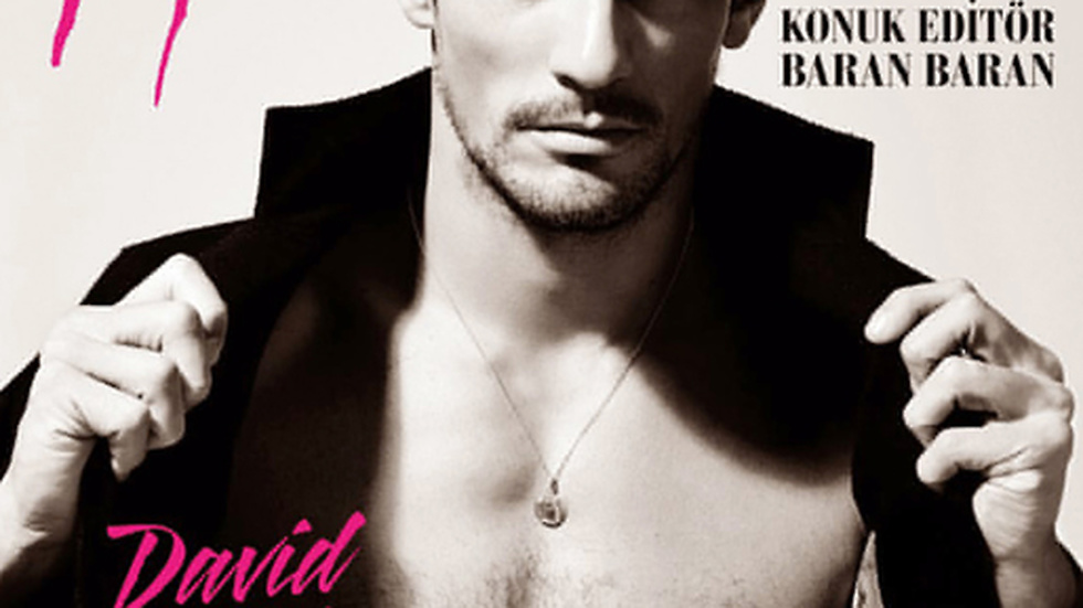 David Gandy på omslaget av LOfficiel Hommes Turkey.