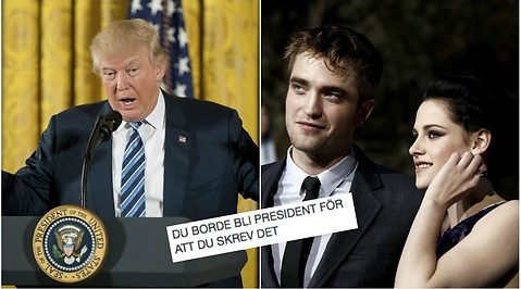 Robert Pattinson, Donald Trump, Kristen Stewart, Twilight, Twitter