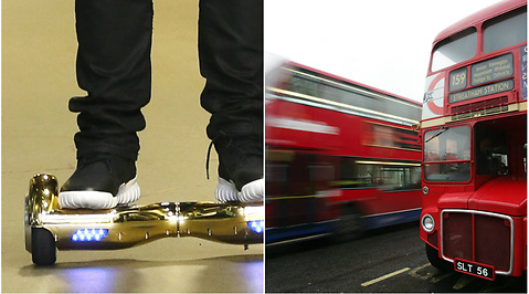 Buss, Olycka, Hoverboard, London