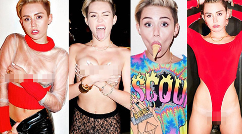 Terry Richardson, Miley Cyrus, Topless