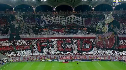 Steaua Bukarest, Rumanien, Derby, Fotboll, tifo