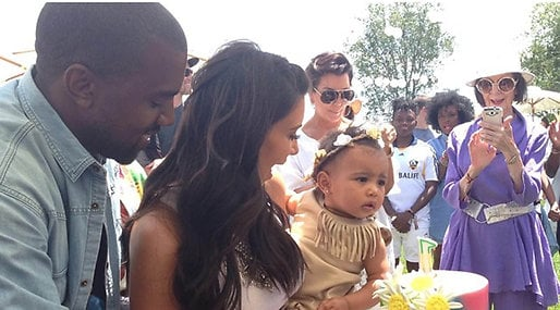 Kanye West, Mason Disick, Kourtney Kardashian, Penelope Disick,  North West, Kim Kardashian