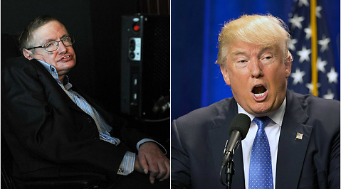stephen hawking, Donald Trump